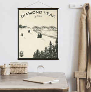 Diamond Peak Ski Resort Sketch Print