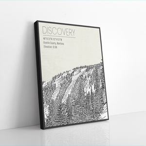 Discovery Ski Resort Hanging Canvas by Printed Marketplace