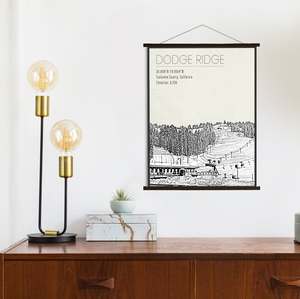 Dodge Ridge Hanging Canvas by Printed Marketplace