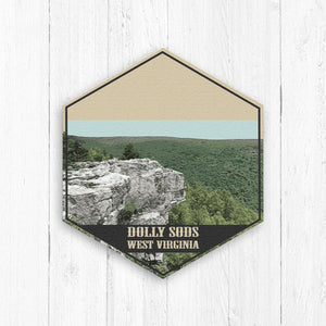 Dolly Sods West Virginia Hexagon Illustration