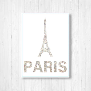 Paris Eiffel Tower Shape Map