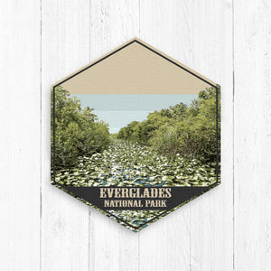 Everglades National Park Florida Hexagon Illustration