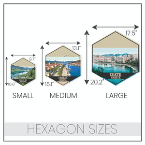 Keuka Lake New York Hexagon Print: Dark