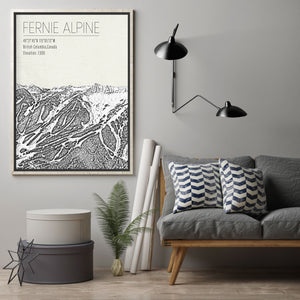 Fernie Alpine Canada Ski Area Hanging Canvas