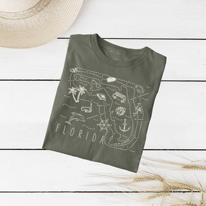 Illustrated Florida Shirt By Printed Marketplace