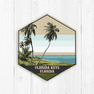 Florida Keys Canvas Hexagon Canvas