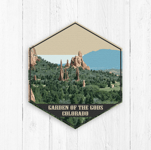 Garden of the Gods Hexagon Illustration