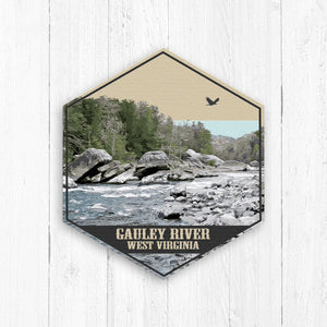 Gauley River West Virginia Hexagon Illustration