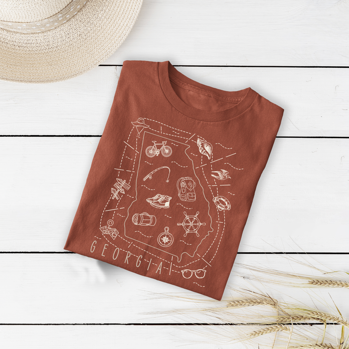 Illustrated Georgia Shirt By Printed Marketplace