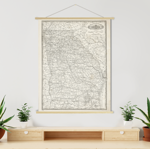 Hanging Canvas Map of Georgia by Printed Marketplace