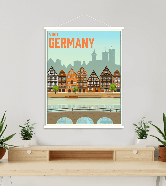 Germany Modern Illustration Print