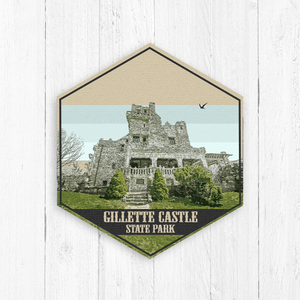 Gillette Castle State Park Connecticut Hexagon Illustration