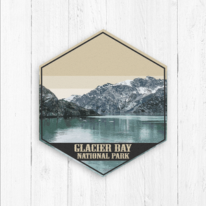 Glacier Bay National Park Hexagon Canvas