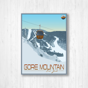 Gore Mountain New York Modern Illustration Print by Printed Marketplace