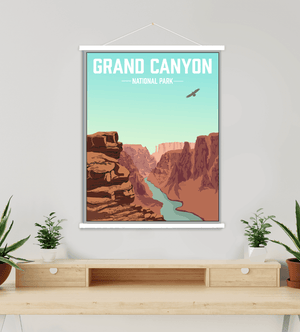 Grand Canyon National Park Modern Illustration
