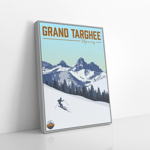 Hanging Canvas of Grand Targhee Ski Area by Printed Marketplace