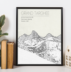 Grand Targhee Wyoming Ski Resort Print