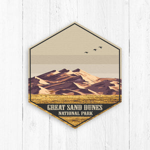 Great Sand Dunes National Park Hexagon Illustration