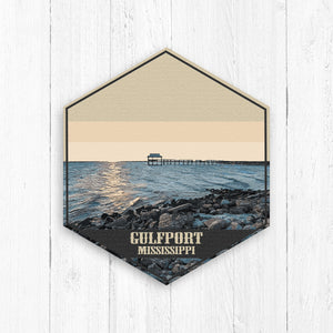 Gulfport Mississippi Hexagon Illustration by Printed Marketplace