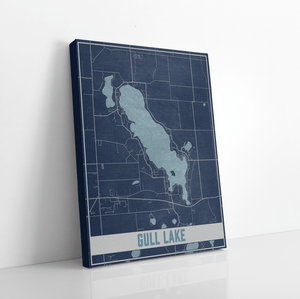 Gull Lake Michigan Map Print