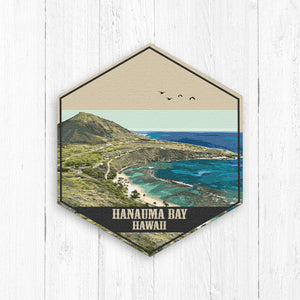 Hanauma Bay Hawaii Hexagon Canvas Print