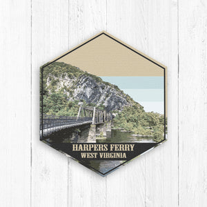 Harpers Ferry West Virginia Hexagon Illustration