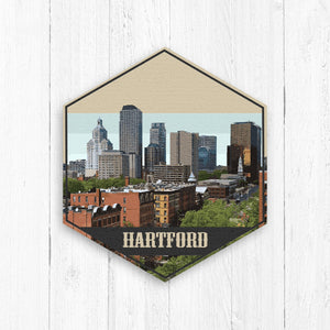 Hartford Hexagon Canvas Print