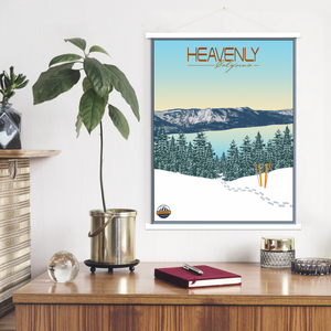 Heavenly California Modern Illustration Print | Hanging Canvas of Heavenly Ski Resort | Printed Marketplace