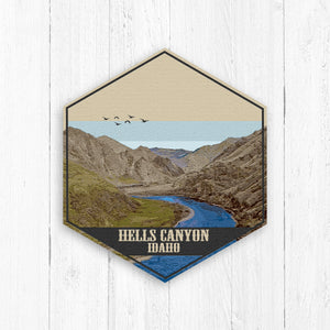 Hells Canyon Hexagon Illustration Canvas Print