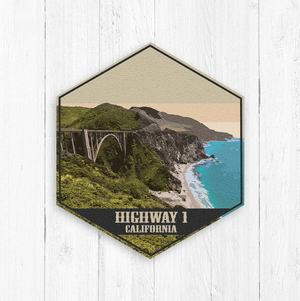 Highway 1 California Hexagon Canvas