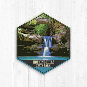 Hocking Hills State Park Hexagon Illustration