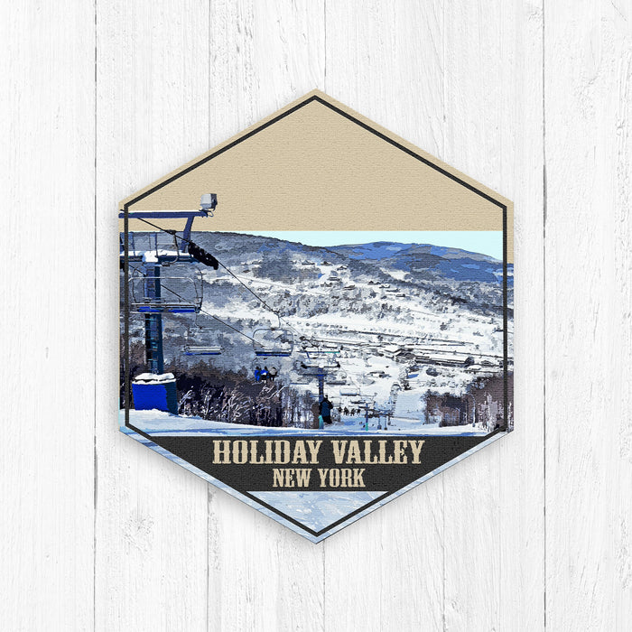 Holiday Valley New York Hexagon Canvas