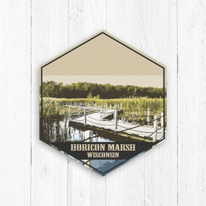 Horicon Marsh Wisconsin Hexagon Illustration