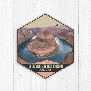 Horseshoe Bend Arizona Hexagon Canvas