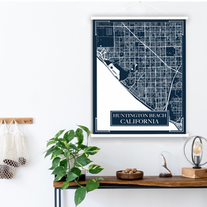 Huntington Beach California Blueprint Street City Map