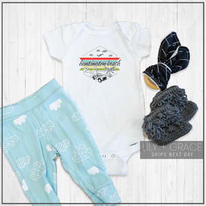 Huntington Beach Onesie® | Toddler Travel Apparel | Kid's Clothing