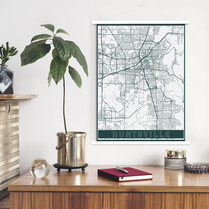 Huntsville Alabama Hanging Canvas by Printed Marketplace