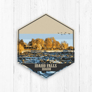 Idaho Falls Idaho Hexagon Illustration Canvas Print