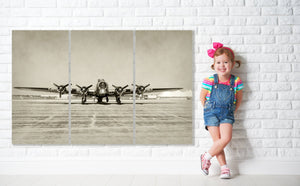 B17 Airplane Canvas Print