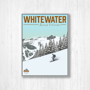 Hanging Canvas of Whitewater Canada Ski Resort