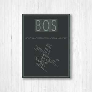 Boston Logan International Airport Map Print