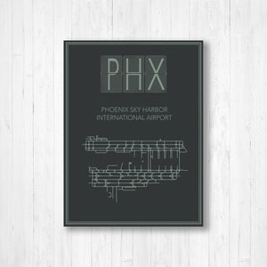 Phoenix Sky Harbor International Airport Map Print