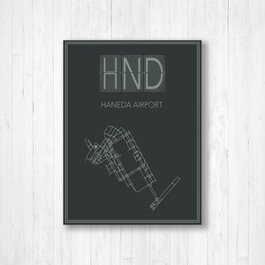 Haneda Airport Map Print