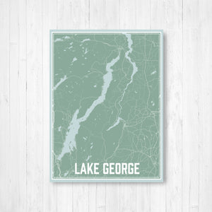 Lake George New York Street Map Print