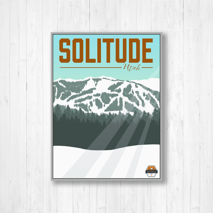 Solitude Utah Ski Resort Modern Illustration Print