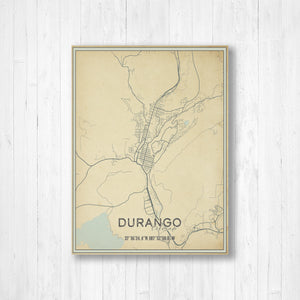 Durango Colorado Street Map