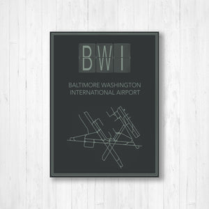 Baltimore Washington Airport Map