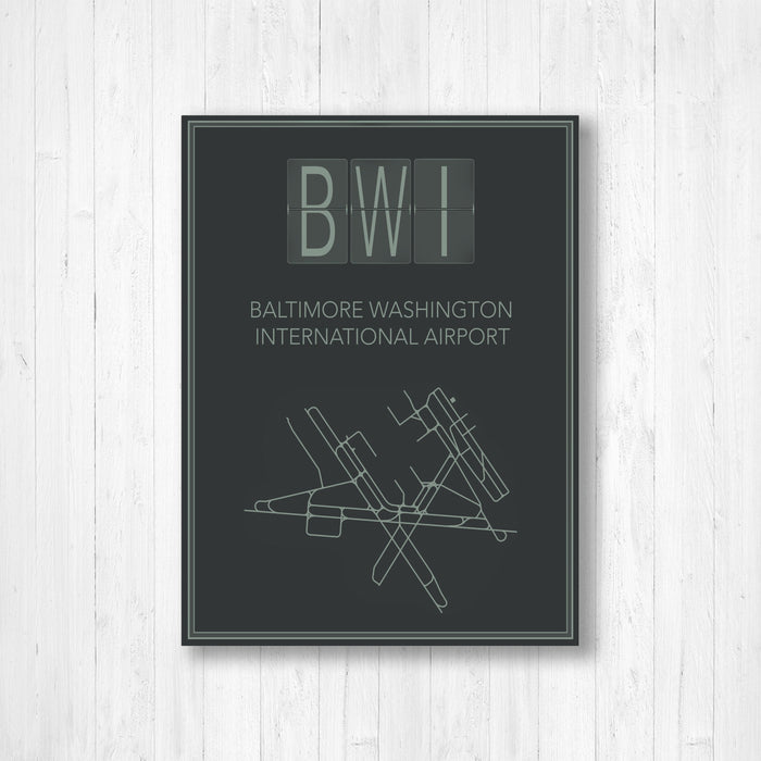 Baltimore Washington International Airport Map Print