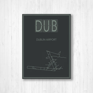 Dublin International Airport Map Print