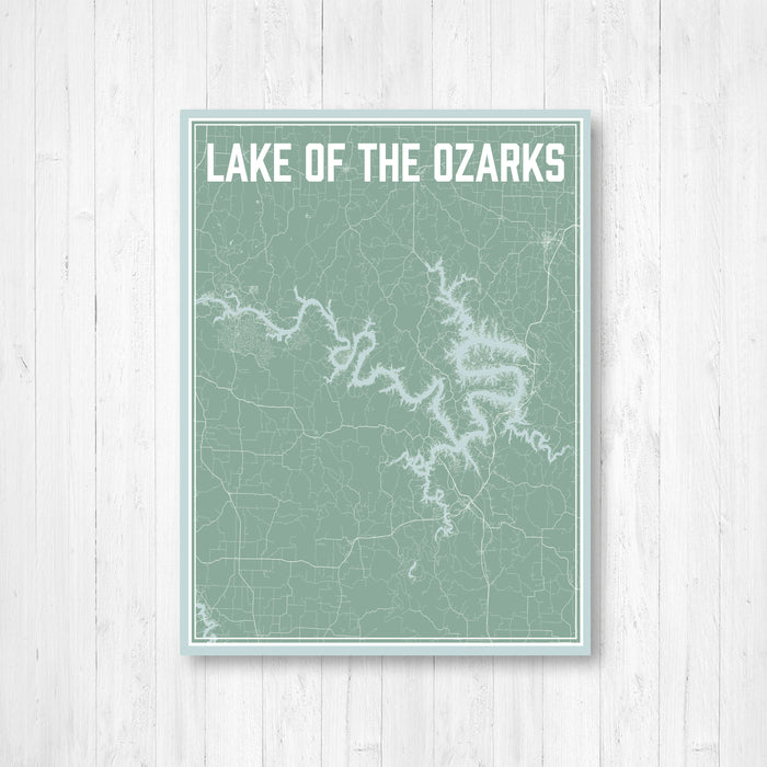 Lake of the Ozarks Missouri Street Map Print